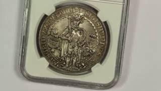 1486 Austria Guldiner Silver Thaler NGC MS67 1953 Restrike First Dollar Sized Coin