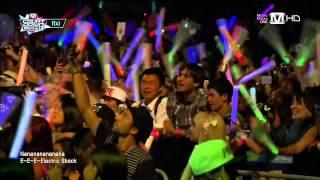 130829 f(x) - Electric Shock (Intro Remix) @ M!Countdown What's up LA K-CON 2013 [720P]