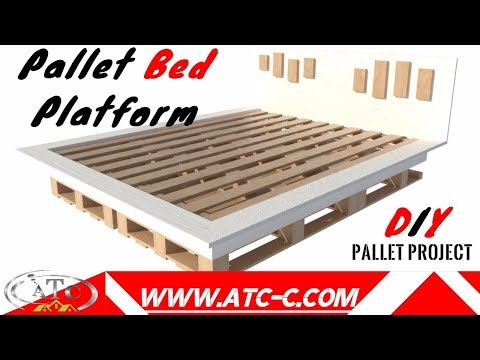 Make your inexpensive DIY modern pallet bed // HOW-TO