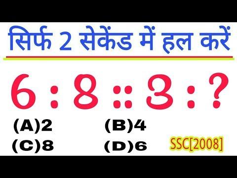 Analogy Reasoning for Railway SSC CHSL SSC GD up police upsssc mandi parishad cgl ibps