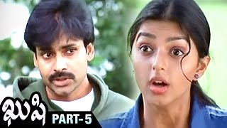 Kushi Telugu Full Movie | Pawan Kalyan | Bhumika | Nasser | Mani Sharma | Part 5 | Shemaroo Telugu