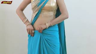 Watch How to Wear Saree : Best Way to pleats & Pin Sari blouse