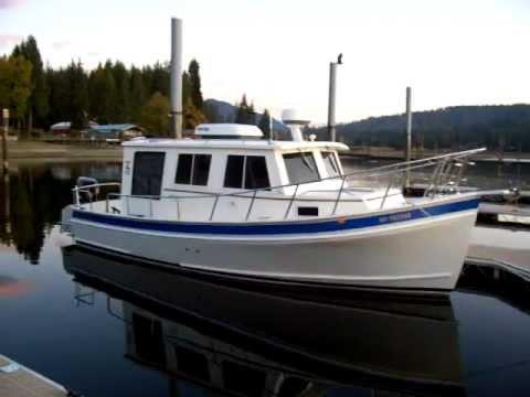 Seaway 25 coastal cruiser at lake Pend Oreille ID.MOV