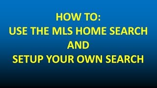 How to Search the Realcomp MLS system