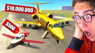$500 Private Jet VS. $10,000,000 Private Jet In GTA 5!
