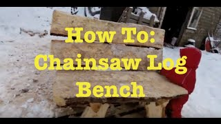MOST AMAZING Chainsaw Furniture  - How To Build a bench - No Fasteners, Screws,Nails