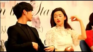 Kim Soo Hyun & Jun Ji hyun Moment ( You Who Came From The Stars Press Conference )