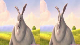 VR video cardboard - Demo Big Buck Bunny #1 [3D Side By Side]