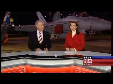 Nine News at RAAF Base Amberley (1/6/10)