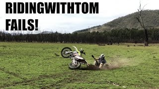 RIDINGWITHTOM FAIL VIDEO - UNSEEN CRASHES AND SCREWUPS!