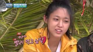 Kim Byung-man cuting tuna fish side by side | Law Of the Jungle in TONGA ep.210