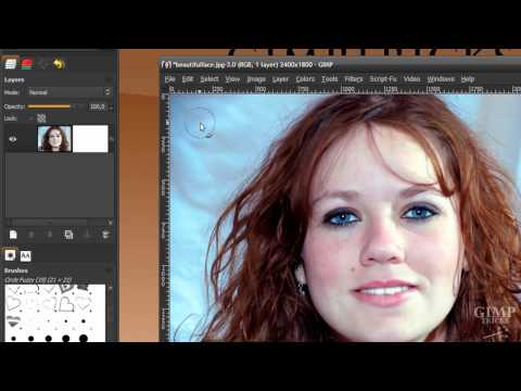 Remove the background from hair in GIMP - tutorial (Cut out hair)