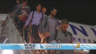 Dodgers Return Home Ready For Game 1 Of World Series