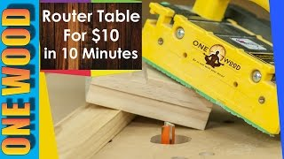 How to build a router table for Woodworking for under $10 - Woodworking video for beginners