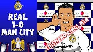 Real Madrid vs Man City 1-0 (Ronaldo Phones MSN Champions League 15-16 Cartoon Semi-Final)