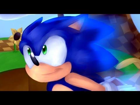.:Sonic The Hedgehog:. SPEEDPAINT + SONG COVER | Pan-tastique