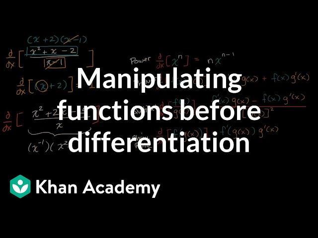 Strategies applying derivative rules