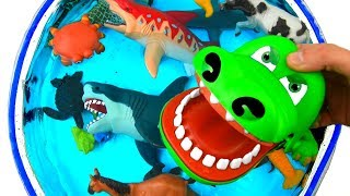 Box of Toys for Kids Wild Animals Learn Colors with Sea Creatures and Zoo Animals