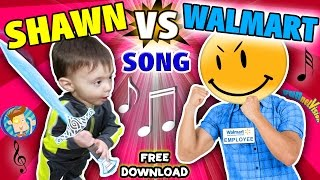 "BABY SHAWN vs. WALMART!  Kids Rap Song ""Touch & Rhyme"" Challenge (FUNnel Vision Music Video Vlog)"