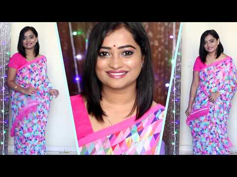 Xxx Mp4 Party Makeup GLAM MAKEUP TUTORIAL For CASUAL SAREE LOOK PERFECT Makeup For DAY OUT OFFICE PARTY 3gp Sex