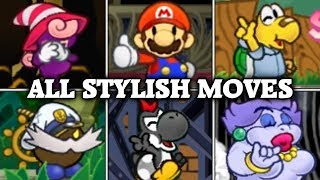 Paper Mario: The Thousand-Year Door - All Stylish Moves (Full HD 60fps)