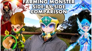 SUMMONERS WAR : How to Farm FASTER and BETTER - Farming monster comparison