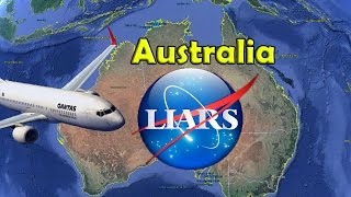 Flat Earth Australia Globe Earth Flight Routes dest-ro-yed