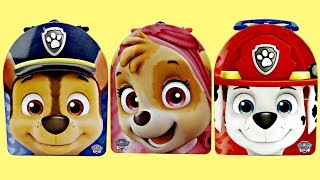 Nick Jr. PAW PATROL Lunch Tin Boxes: Chase, Skye, Marshall FULL of Squishy Food Toy Surprises / TUYC