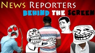News Reporter - Behind The Scenes | Bangla funny video.