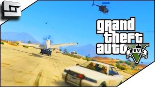 GTA 5 Funny Moments - EPIC ESCAPE! Hilarious Heist w/ The Pojkband #1