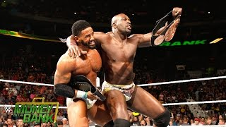 WWE Network: The Prime Time Players celebrate winning the WWE Tag Team Title: Money in the Bank 2015