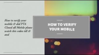 How To Verified Your Mobile