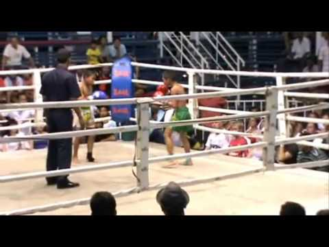 10 year old Muay Thai fighter Rambo wins at Bangla Stadium Phuket Thailand