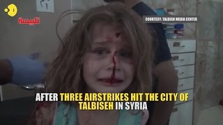 Heartbreaking video of wounded Syrian girl crying for her father