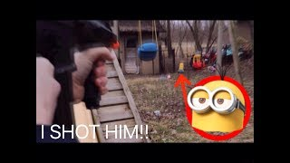 Real Life KEVIN THE MINION WAS IN OUR BACKYARD!! *Did We Capture Him?*