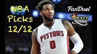 NBA (Fanduel + DraftKings) Picks 12/12