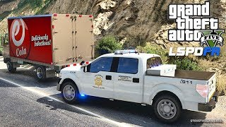 LSPDFR #601 HIGHWAY PATROL!! (GTA 5 REAL LIFE POLICE PC MOD) COMMERCIAL VEHICLE ENFORCEMENT