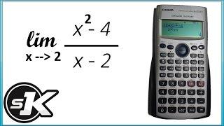 طريقة حل النهايات [limits] بالالة الحاسبة fx570