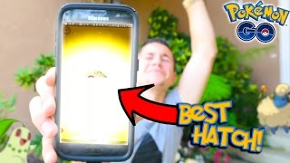 THE GREATEST HATCH EVER IN POKEMON GO! First Gen 2 Starter Hatch + I CAN COMPLETE MY POKEDEX!