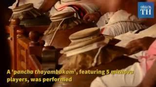 Sounds of Kerala: Pancha Thayambakam Mizhavu