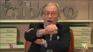 SHOW  DI VITTORIO FELTRI : IO SONO XENOFOBO, CAZZO ME NE FREGA DEGLI IMMIGRATI .