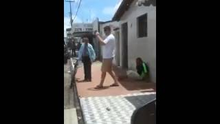 Old man knocks out guy like a boss