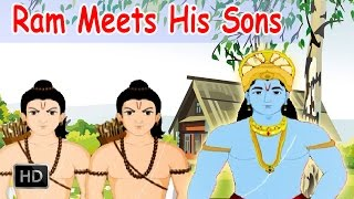 Luv Kush - Ram Meets His Sons - Kids Stories