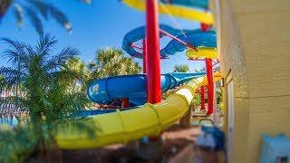 Fantasy World Resort  - Splashtacular Speed Slide | Yellow Waterslide Onride POV