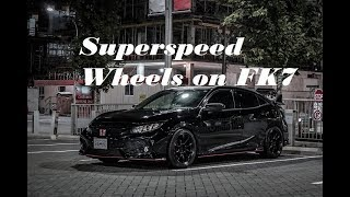 Superspeed wheels RF03RR on 2018 civic hatchback (FK7)