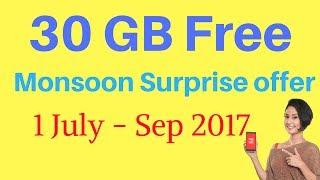 Airtel 30 GB free Data - Airtel Monsoon Surprise offer