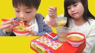 ラーメン屋さんごっこ ディズニー ミニうどん ミニラーメン こうくんねみちゃん Play Ramen shop Disney Mini Udon Mini Ramen