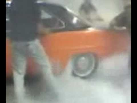 HUGE!!! '67 Chevy Nova Burnout Fills Garage With Smoke!!!