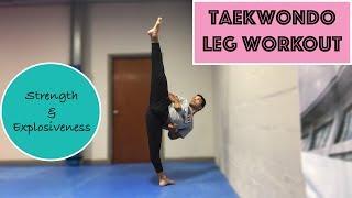 Taekwondo Leg Workout For Strength & Explosiveness|Train With Donavan