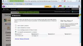 Forward Godaddy domain to Ipage Web Hosting.